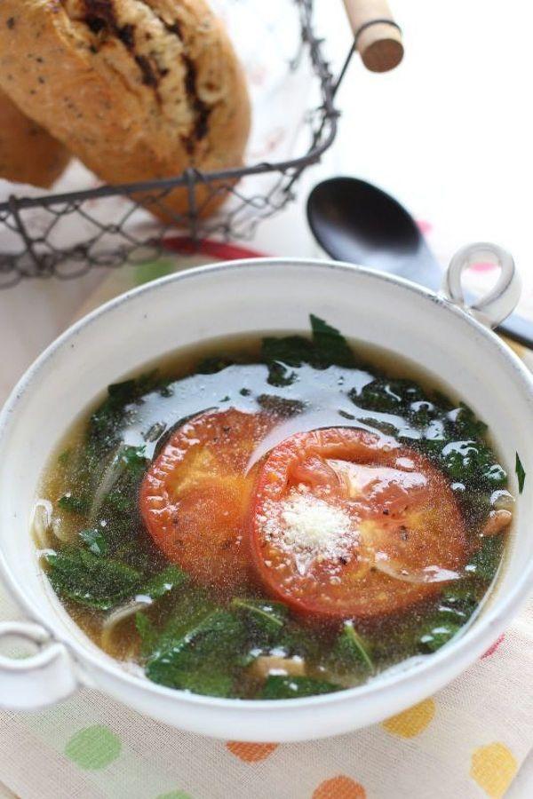 モロヘイヤとトマトのスープ by かすが きょうこ | レシピサイト ...