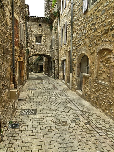 Medieval village of Cruas, Ardèche, France.