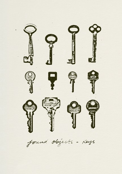 Keys (found objects) by withwallpaper