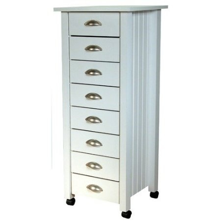 170 amazoncom venture horizon 8 drawer mobile wood filing cabinet in white finish