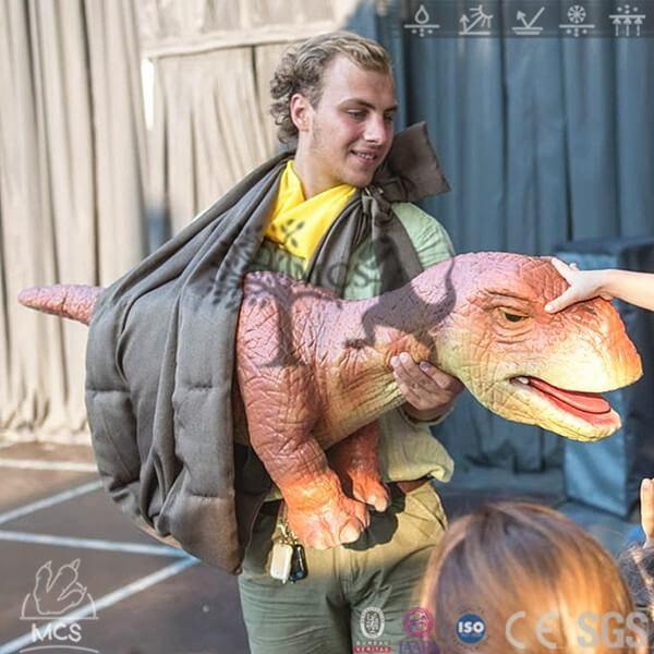 BB008-Dinosaur Hand Puppet For Sale Baby Brachiosaurus -Mcsdino-Egg and Puppet