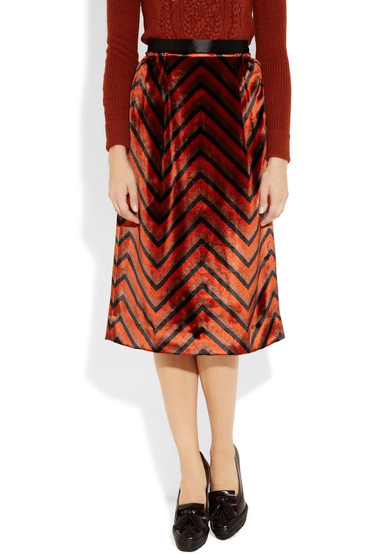 Marc by Marc Jacobs: Velvet Skirt