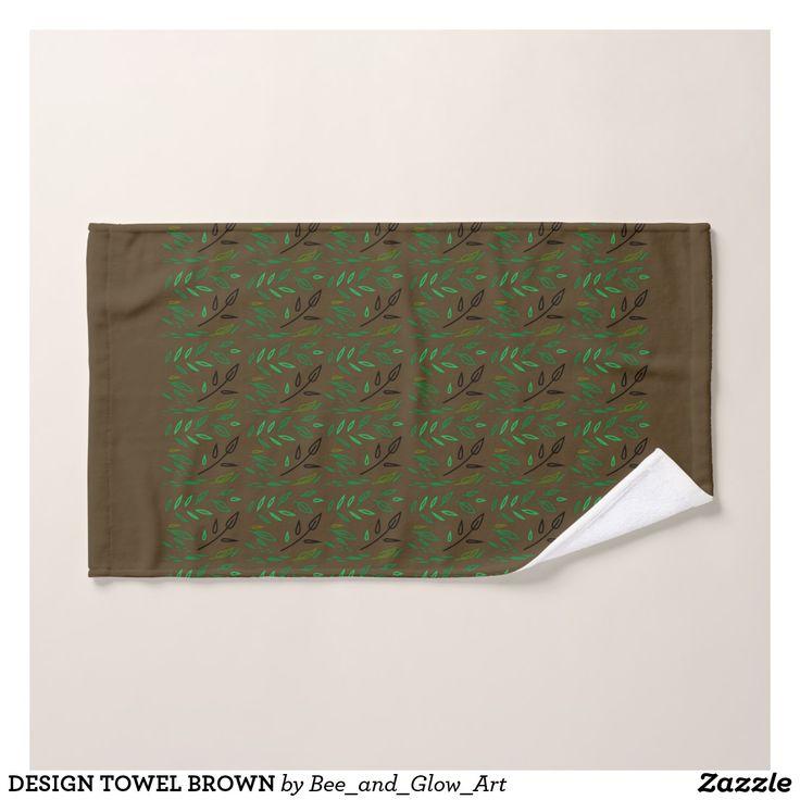 DESIGN TOWEL BROWN