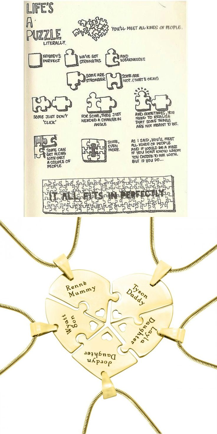 https://www.neatie.com/Personalized-Penta-Heart-Puzzle-Five-Personalised-Necklaces-OPTIONAL-Gold-Upgrade Life's a puzzle, you'll meet all kinds of people......it's lucky to find someone fit perfectly. Keep them close with Neatie puzzle #personalisednecklace