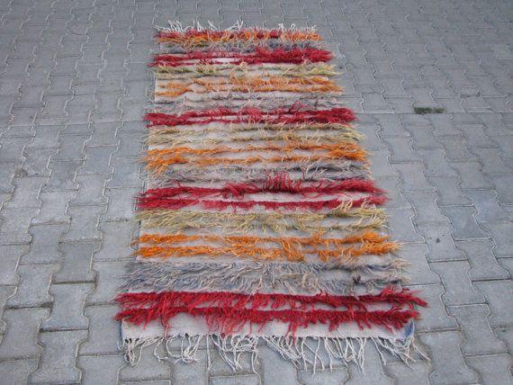 SLIM STRIPES TULLU Rug,Angora Wool Tullu Rug,Turkish Tullu Rug,Tullu Rug,Striped Design Rug,Long Haired Rug,Minimalist Rug,Modern Rug,Tapis