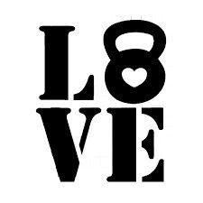 KETTLEBELL LOVE VINYL STICKER