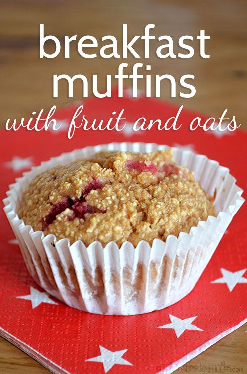 breakfast muffins with fruit and oats