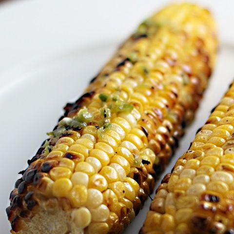 Grilled corn with Roasted Jalapeno Butter.Grilled Corn On Cob, Corn Cooking On Grilled, Butter Corn, Roasted Jalapeño, Delicious Recipe, Roasted Jalapeno, Jalapeno Butter Recipe, Dinner Recipe, Jalapeño Butter