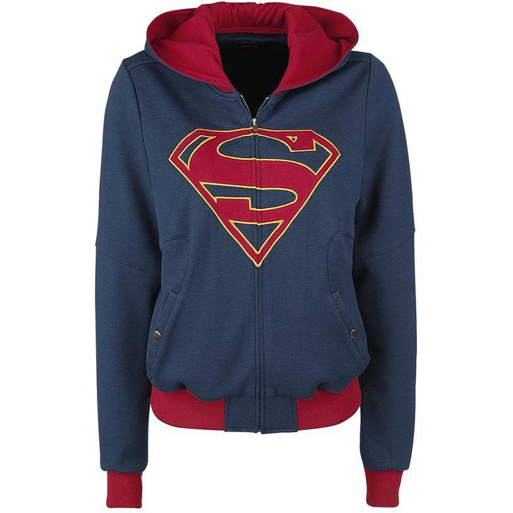 XXL Supergirl - Logo  - Hupputakki - Hupussa kiristysnyöri, voidaan käyttää myös päähineenä - Brodeerattu Supergirl-symboli - Vetoketju - 2 sivutaskua neppareilla - Kontrastiväriset resorihihansuut  Pujahda tähän sinipunaiseen väliaikakausitakkiin ja näytä kaikille että olet Supergirl! Takissa on huppu jota voidaan käyttää myös päähineenä. Kohokohtana on tietenkin brodeerattu Supergirl-symboli, jonka läpi kulkee vetoketju.Sivuilla on lisäksi nepparitaskut.