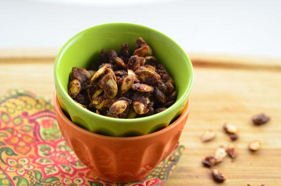 Make and share this Sweet and Spicy Pumpkin Seeds recipe from Food.com.