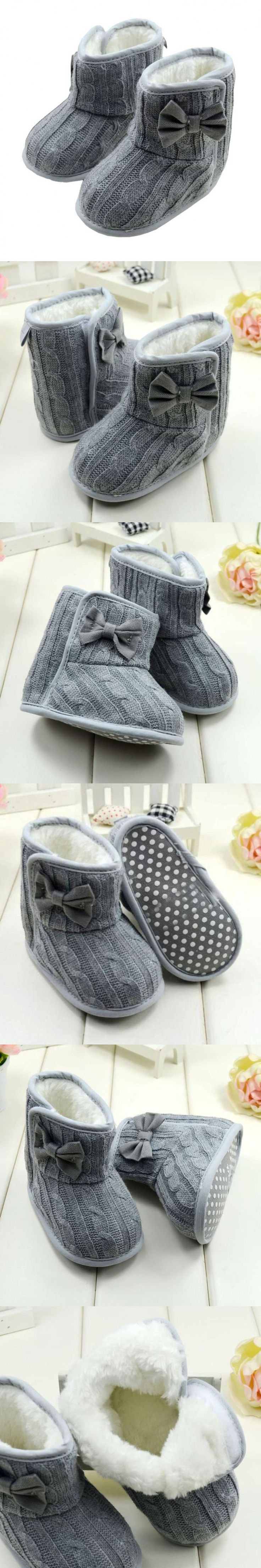 Kid shoes children girls cute Bowknot baby winter boots kids first walkers baby boots baby shoes newborn boost sapatos great $4.23