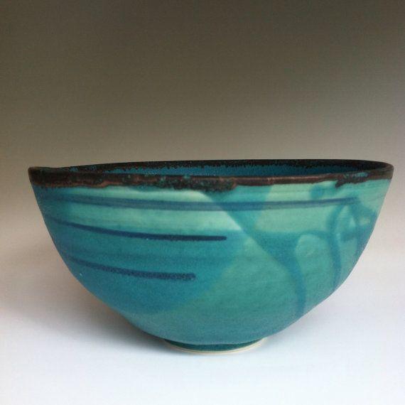 Modern Caribbean Blue Bowl