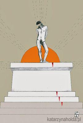 KATARZYNA HOŁDA, SACRED KING illustration to Trzy Kolory magazine,  digital, 2012 version 1  katarzynaholda.pl