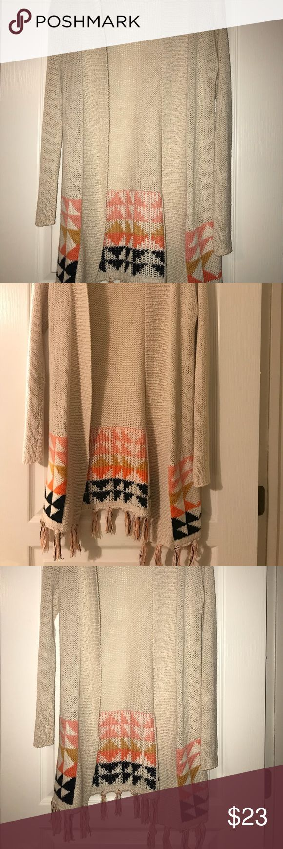 Roxy Cardigan Roxy cardigan. Beachy and cute to layer. Worn once, it does have one area that you can see in the pictures where it is not perfect but can only be seen from the inside of the cardigan. Roxy Sweaters Cardigans