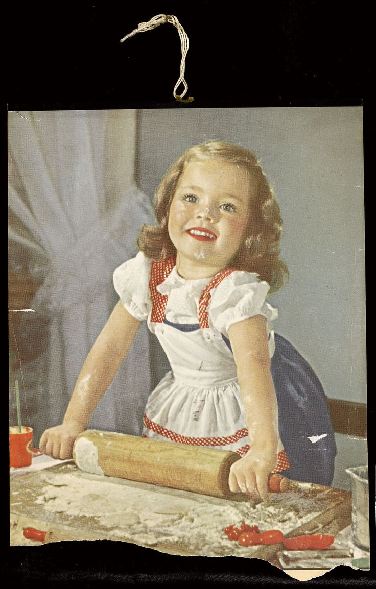 Untitled (Little Girl with Rolling Pin)Artist unidentified Chicago, Mid-twentieth century Found color illustration with plastic and string, 13 ? x 10 in American Folk Art Museum