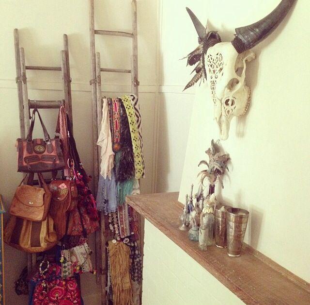 Bohemian Closet Decor