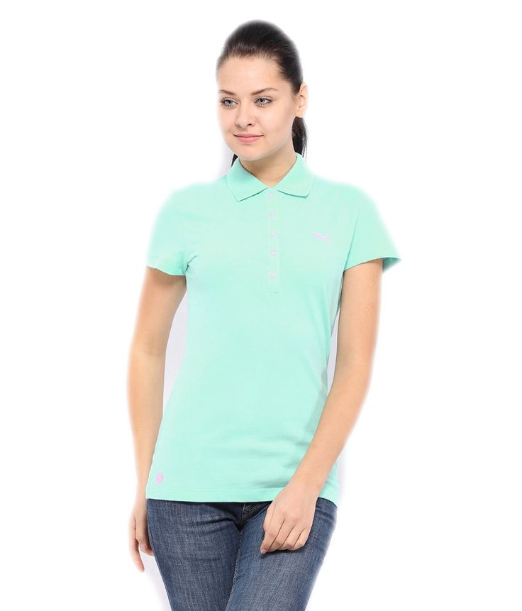 Puma Blue Cotton Half Sleeves Neck Solid Women's Tee, http://www.snapdeal.com/product/puma-blue-cotton-half-sleeves/660265827733
