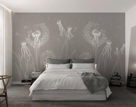 PHOTO WALLPAPER WALL MURAL 3D Flowers NATURE MEADOW Dandelions for BEDROOM