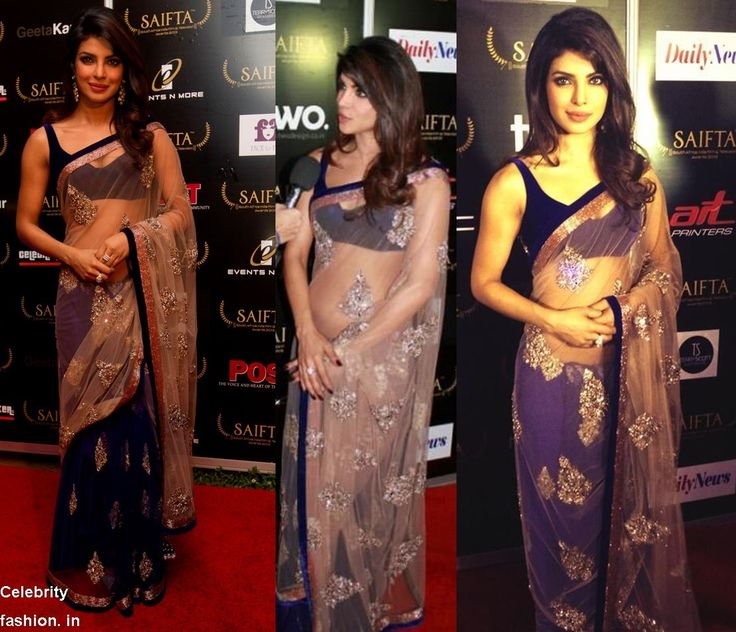 Priyanka Chopra in #ManishMalhotra #SAIFTA 2103 - http://www.celebrityfashion.in/priyanka-chopra-in-manish-saifta-awards-2013/
