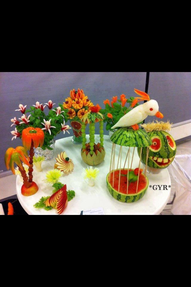 Sandias Decoradas Arreglos Con Frutas Pinterest