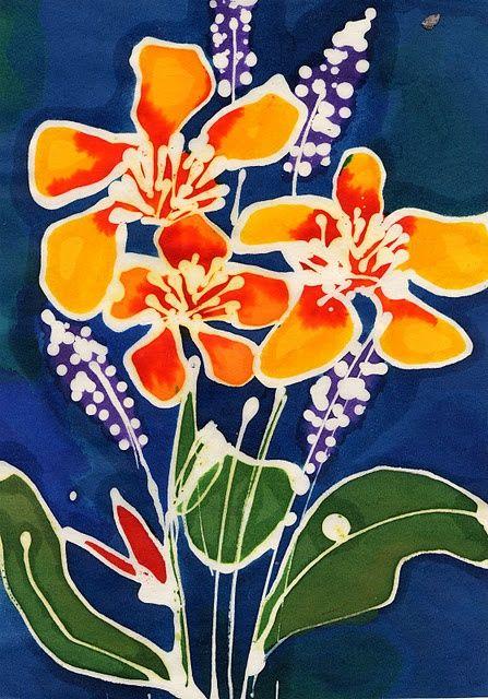 Batik Art, Flower Art
