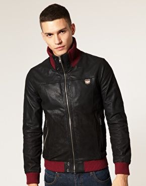 This leather Superdry jacket, just wasn't doing it for me at £185! Even if l did really like the red cuffs, and collar..  But now it's in the sale for £92! Fuxking dancer!