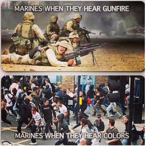 """Never leave a Marine behind …!"" (via Marine Corps Memes.)"