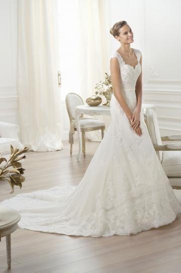 Hala Elegantní & luxusní Rukáv Svatební šaty 2014