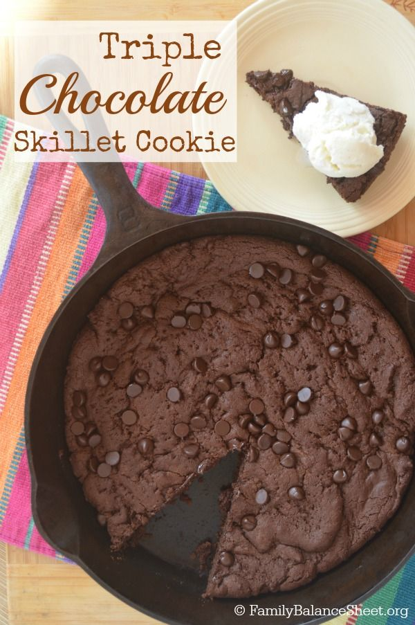 ... chocolate cake chocolate chips skillet cookie homemade whipped cream