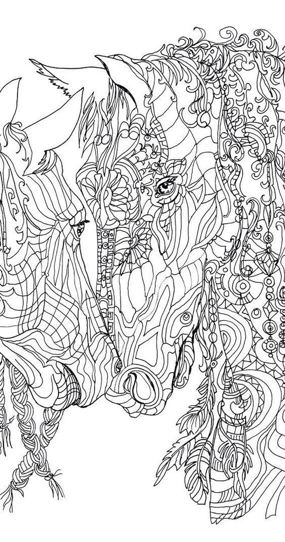coloring pages printable adult coloring book horse clip art hand drawn original zentangle colouring page for download doodle art picture