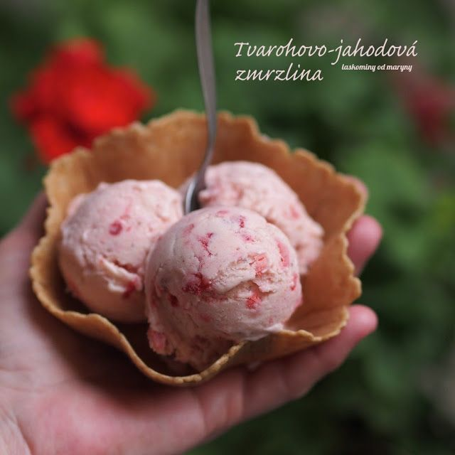 Laskominy od Maryny: Tvarohovo-jahodová zmrzlina I.