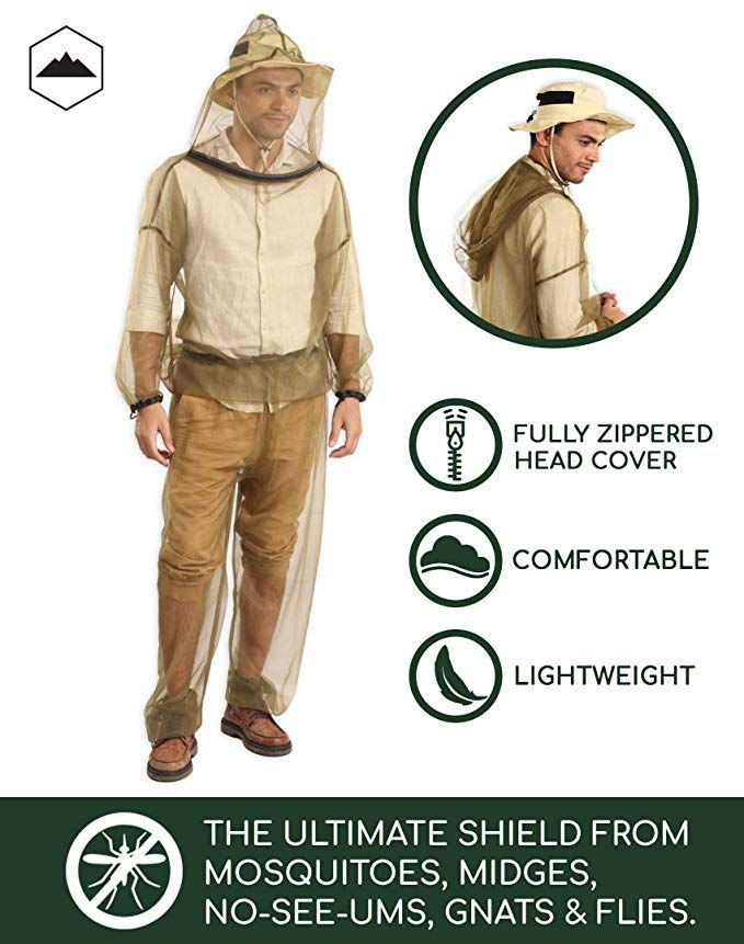 Bug Jacket Hood Pants With Free Carry Pouch Anti Mosquito Net Repellent Clothing Ultimate Protection From Bugs No See Ums M Anti Mosquito Mosquito Hood