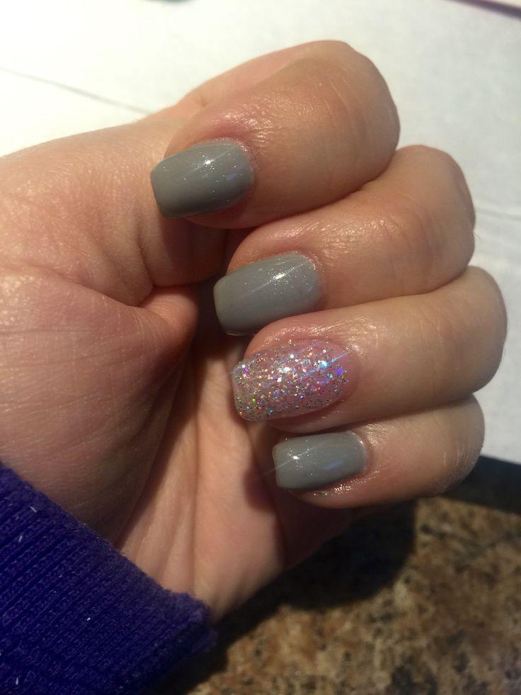 Head in the clouds/sugar coated glitter gel nails