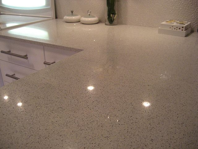 Stellar Snow By Silestone Countertop Did This With Black