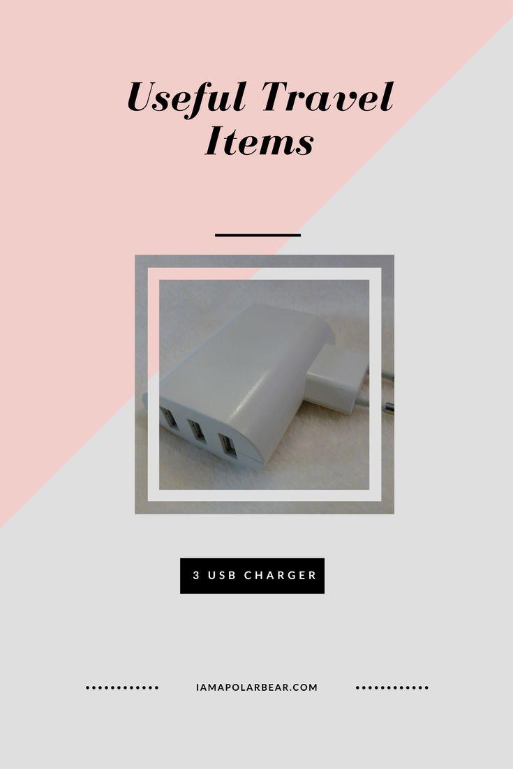 Useful Travel Items: 3 USB plug   iamapolarbear.com