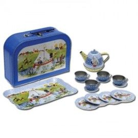 All little kids love playing with teasets and this one is so cool no flowers, no pink- boats and blue