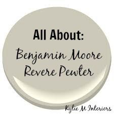 All About: Benjamin Moore Revere Pewter - Kylie M Interiors.  Undertones, coordinating white paint colours, other gray colours and the best wood tones.  #ReverePewter #BenjaminMoorePaint #KylieMInteriors