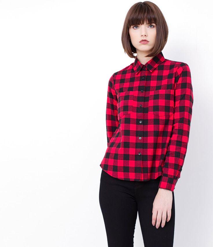 Camisa feminina  Manga longa  Com bolsos  Xadrez  Marca: Blue Steel  Tecido: flanela  Composição: 100% algodão  Modelo veste tamanho: 36     Medidas da Modelo:     Altura: 1.72  Busto: 78  Cintura: 59  Quadril: 91  Manequim: 36     COLEÇÃO INVERNO 2017     Veja outras opções de    camisas femininas.