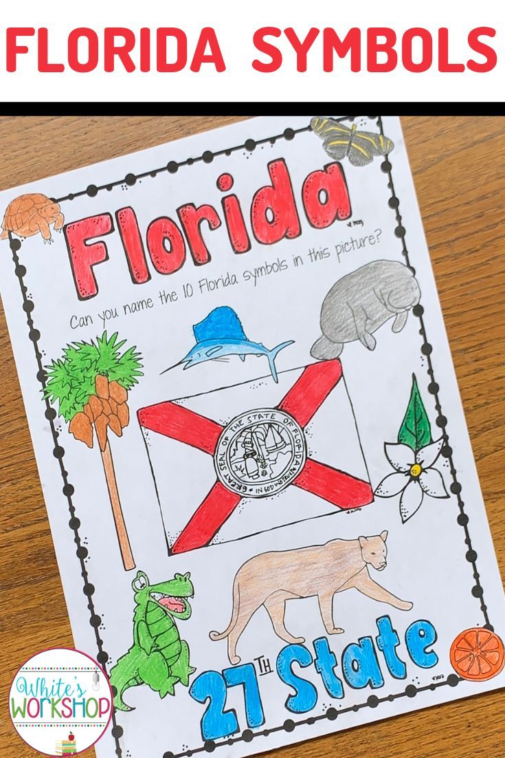 Celebrate Florida History With These Free Florida Symbols Worksheet 4th Graders Will Love Coloring And History Worksheets 4th Grade Activities Map Activities [ 1102 x 735 Pixel ]