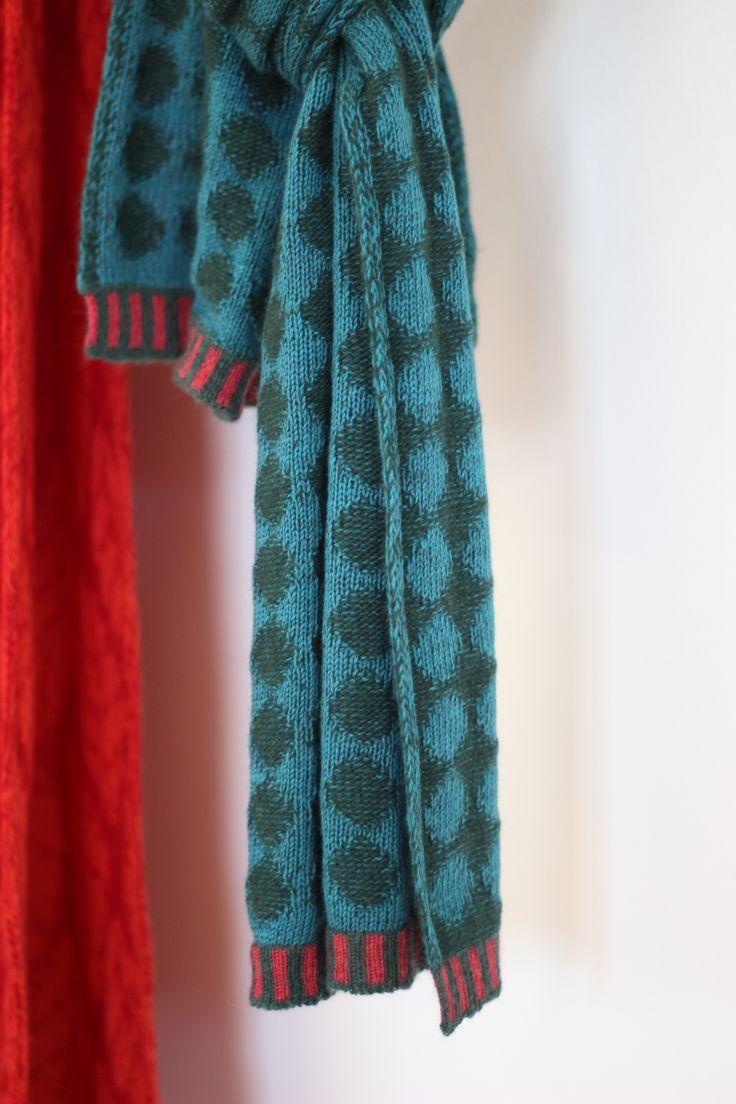 Dots of Blue    McKernan Woollen Mills   Handmade scarves and accessories   Irish Design   Made in Ireland   Weaving and Knitting