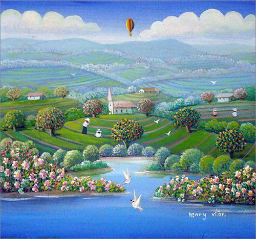 Arte naif - Henry Vitor .-