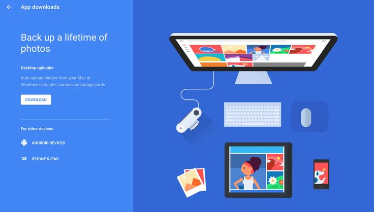 Landing page of google photo, the graphic bring a nice lifestyle.