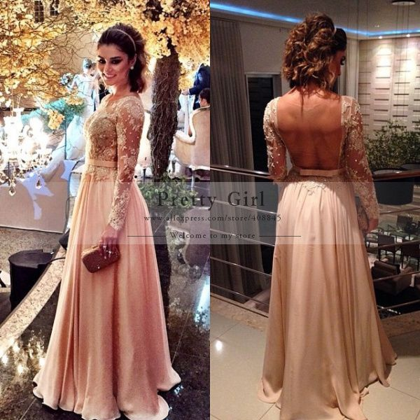 1000+ ideas about Vestidos Largos Manga Larga on Pinterest