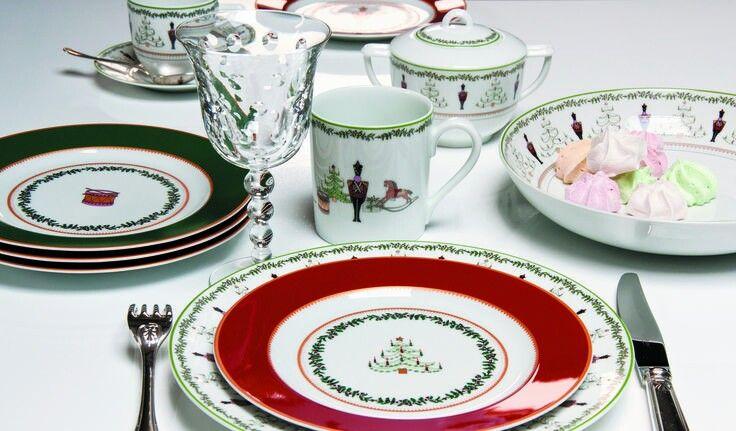 """Holiday china!  """"Grenadiers"""" by Bernardaud."""
