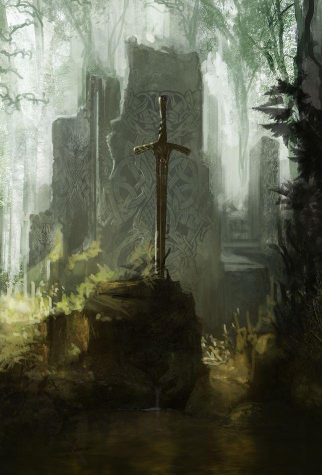 EXCALIBUR: la espada legendaria del Rey Arturo, a la que se han atribuido diferentes propiedades extraordinarias a lo largo de las numerosas versiones del mito y las historias subsiguientes.