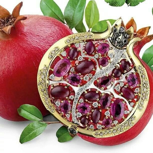 Pomegrenate brooch -Rubies & Diamonds masterjewellery