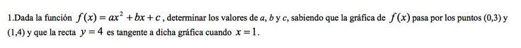 Ejercicio 1B 2001-2002 Setiembre. Propuesto en examen pau de Canarias. Matemática. Continuidad, derivabilidad y representación de funciones. Límites.