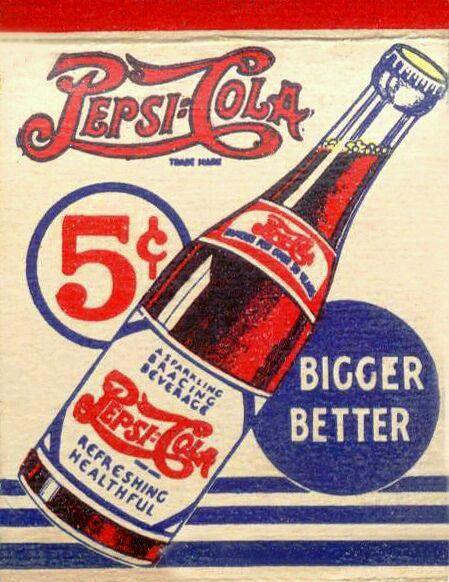 Carteles antiguos de publicidad- Pepsi-Cola
