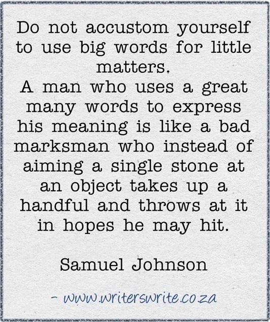 Quotable - Samuel Johnson - Writers Write Creative Blog. Brevity