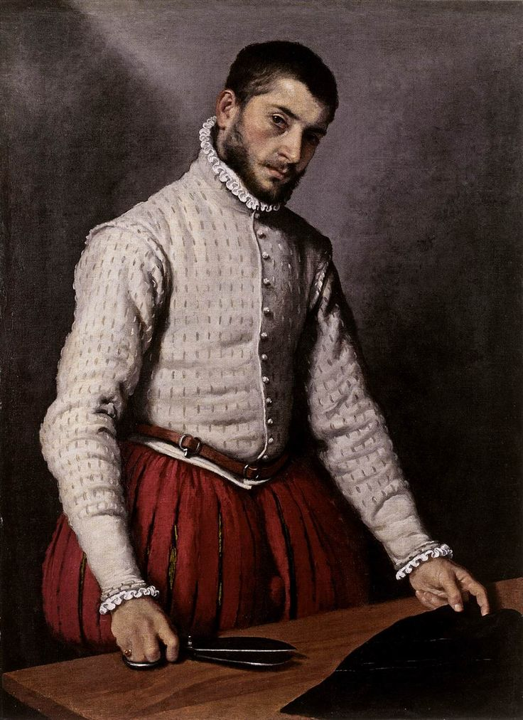 Aside from the fact that this man is yummy...amazing!   Giovanni Battista Moroni, The Tailor